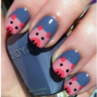 Pig nails! I wanna try :)  thanks Tara ;)