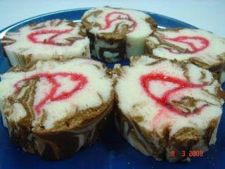 Yochana's Cake Delight! : Steamed Marble Swiss Roll