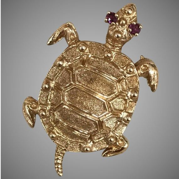 FB Jewels Solid Sterling Silver Antique Turtle Charm