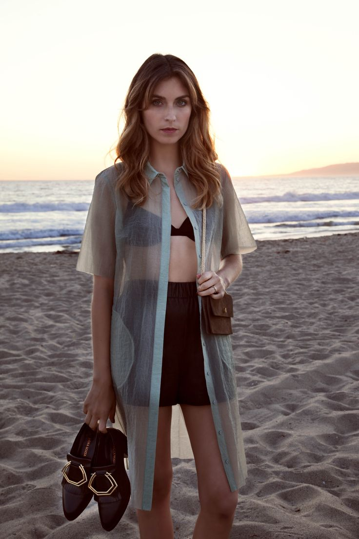 When at Venice Beach, shooting SS15, POOLSIDE UTOPIA. X oxfords and coconut bag