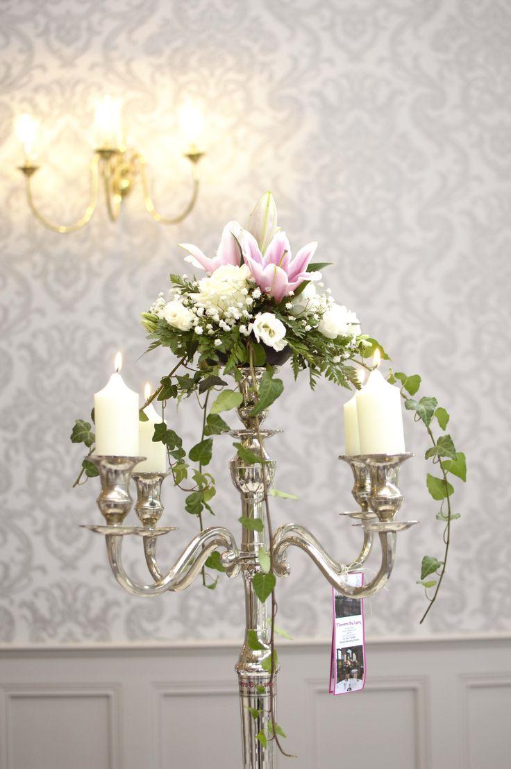 Ivy candelabra centrepiece