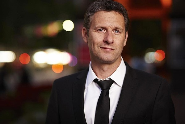 "Aussie comedian, Adam Hills. So funny and hot.... And the best catchphrase on The Last Leg: ""you're a dick!!"""