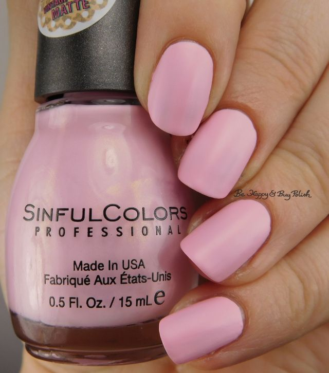 Sinful Colors Strawberry Milk   Be Happy And Buy Polish https://behappyandbuypolish.com/2017/01/10/sinful-colors-kandee-johnson-nail-polish-collection/