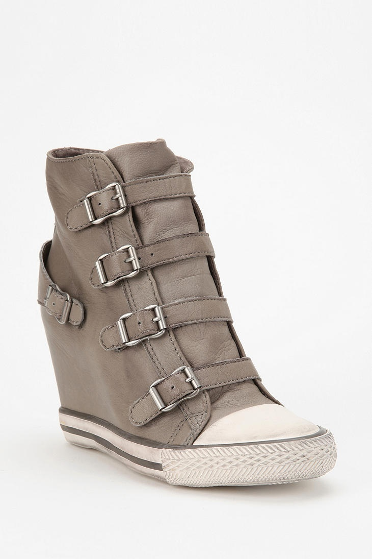 Ash Eagle Leather Wedge-Sneaker