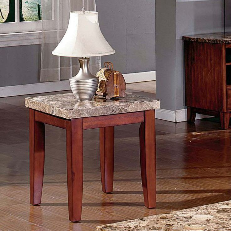 Steve Silver Montibello Marble Top End Table   MN700E, Durable