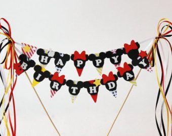 Mickey Mouse birthday decorations Mickey by RaisinsPartySupplies