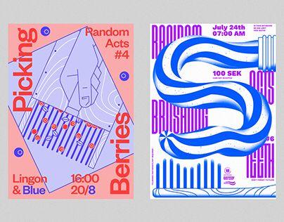 """Auf @Behance habe ich dieses Projekt gefunden: """"Random Acts Poster Series"""" https://www.behance.net/gallery/44454473/Random-Acts-Poster-Series"""