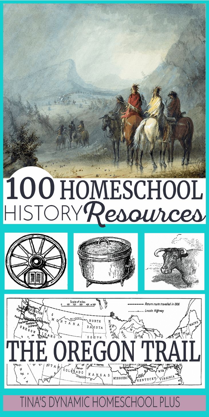 100 Oregon Trail Homeschool History Resources. HUGE list of hands-on history ideas, lesson plans and crafts. via @tinashomeschool