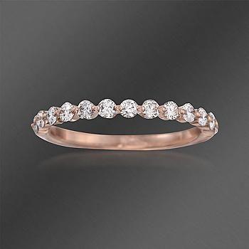 Ross Simons Henri Daussi 48 Ct T W Diamond Wedding Ring In 14kt