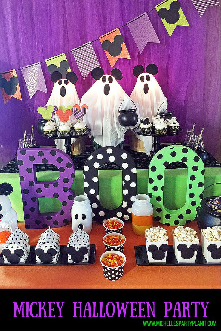 Halloween birthday party decoration ideas - Mickey Halloween Party For Disney Fans Fun And Simple Party Ideas For All