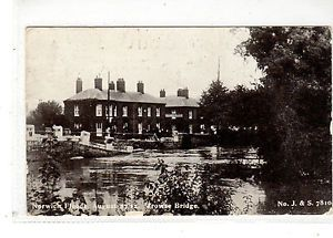 NORFOLK-NORWICH-FLOODS-27-8-1912-TROWSE-BRIDGE-PRINTED-UNPOSTED