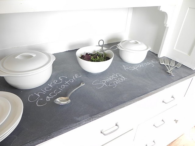 Chalkboard Countertop, Iu0027m Going To Try This On My Vanity Top And Seal ·  Slate CountertopBar CountertopsPainted ...