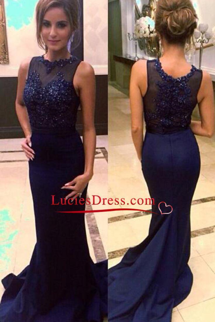 Groß Midnight Blue Prom Kleider 2014 Fotos - Hochzeit Kleid Stile ...