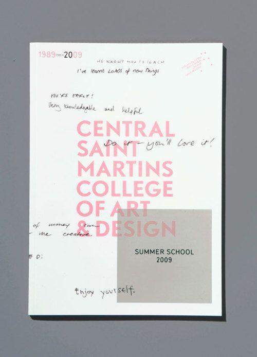 print   catalog for central saint martins college of art & design (2009) summer school.
