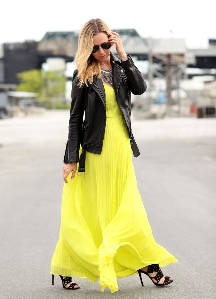 Neon and Leather via BrooklynBlonde.com / @Helena Glazer