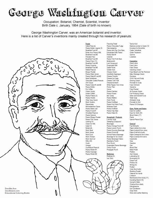 Pin By Nora Huntington Rodriguez On African American Coloring Pages In 2020 George Washington Carver Washington Carver George Washington Carver Projects
