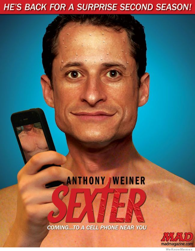 Anthony Weiner is an arrogant, disgusting, compulsive liar.  Good luck trying to win the election Mr Weiner!  Ugh!  :~P
