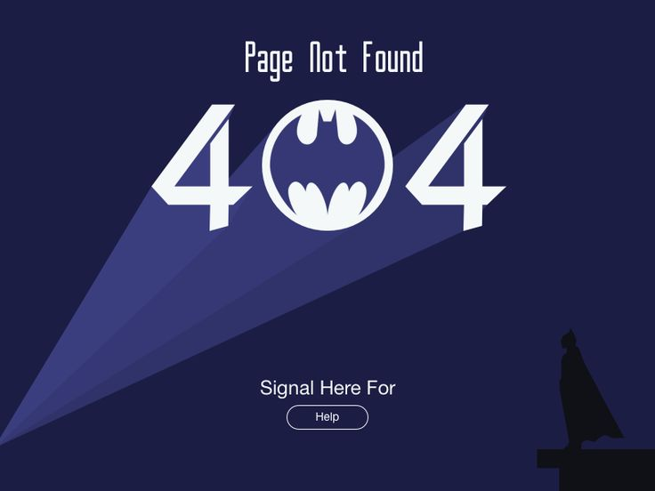 Bat Signal 404 Page not found by Eric Jussaume