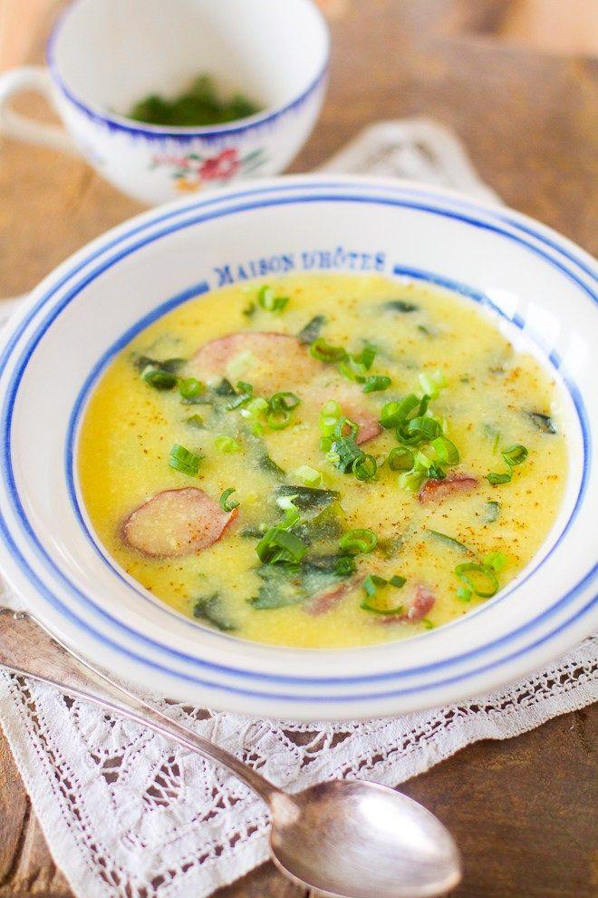 """Un """"Flo"""" de bonnes choses » Soupe brésilienne au maïs, chou et saucisse fumée – Sopa de Fubà"""