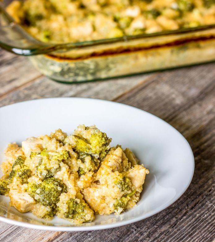 Pollo Brócoli quinua Cazuela