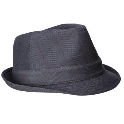 Men's grey fedora hat
