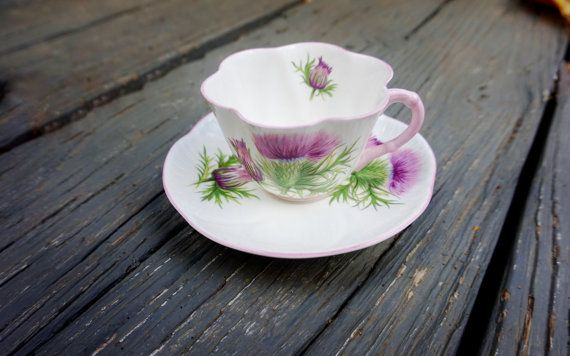 Classic Dainty Shelley Teacup and Saucer by DauphinTimeCapsule
