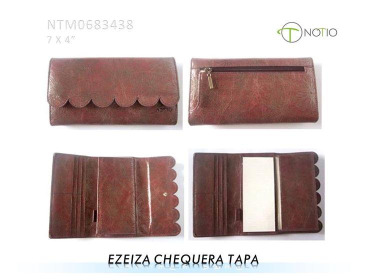 Notio marroquineria  en cuero-  Ezeiza Chequera Tapa