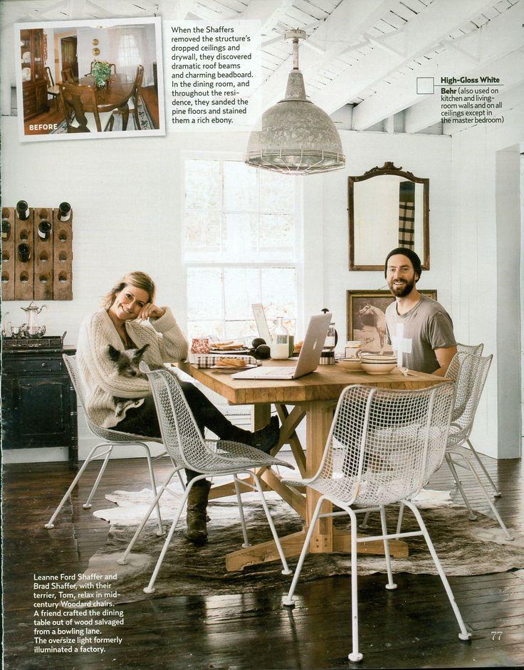 Country Living September 2013 Leanne Ford Shaffer and Brad Shaffer dining room