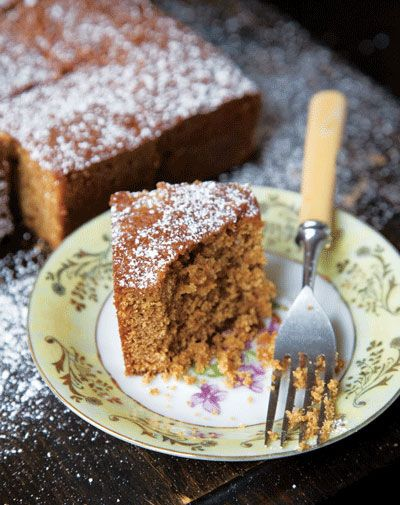 English Gingerbread Cake  This moist, spice-laden dessert is based on a traditional English recipe in Rose Levy Beranbaum's Rose's Heavenly Cakes.