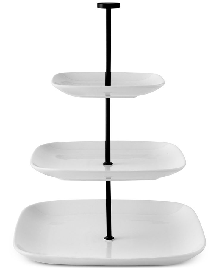 The Cellar Whiteware Serveware Square 3 Tier Server, Only at Macy's - Serveware - Dining & Entertaining - Macy's
