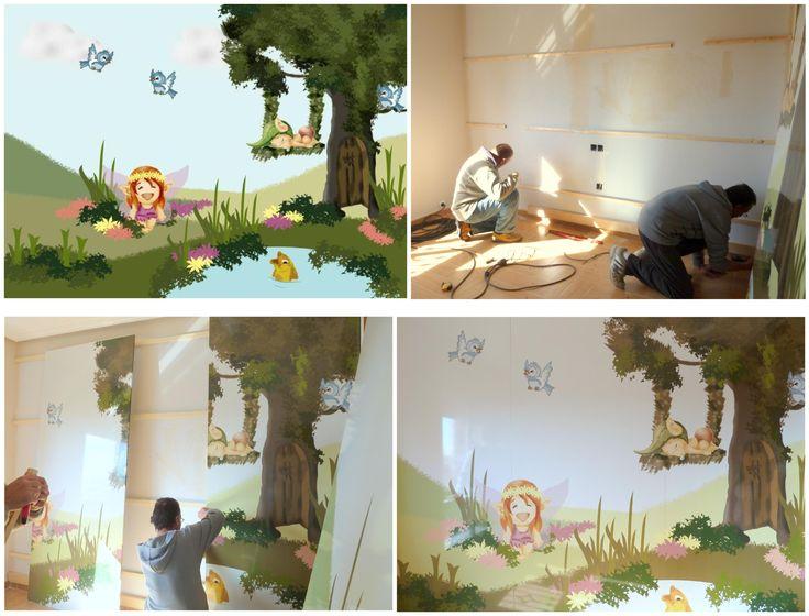 Bosque encantado dise o vinilo decorativo para dormitorio for Dormitorio infantil bosque
