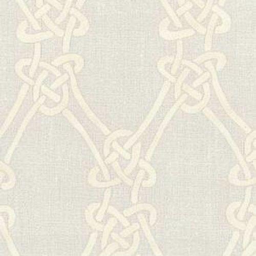 Schumacher Gordian Weave Natural on Greige Fabric