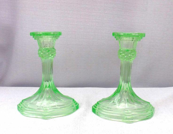 Vintage Glass Art Deco Candle Holder: 31 Best Candle Sticks Images On Pinterest