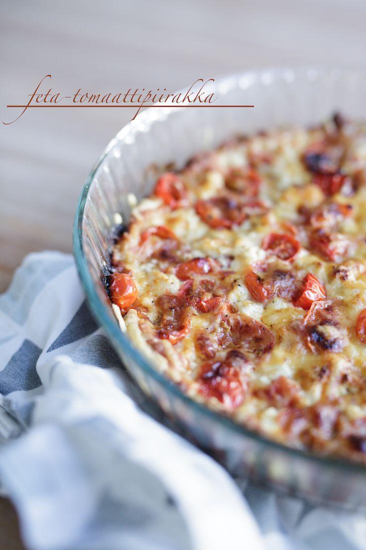 Feta-tomaattipiirakka