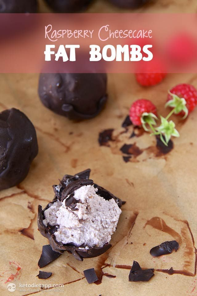 Raspberry Cheesecake Fat Bombs (low-carb, keto, primal)