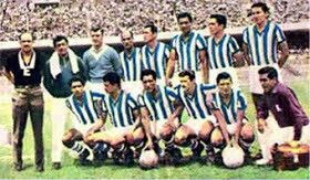 CF Monterrey of Mexico team group in 1966.