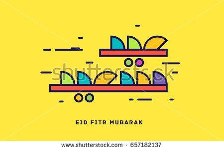 yellow and green & red & blue 'eid fitr mubarak' vector calligraphy - Eid Mubarak Wishes 2017, Greetings card , Eid Mubarek Cards 2017