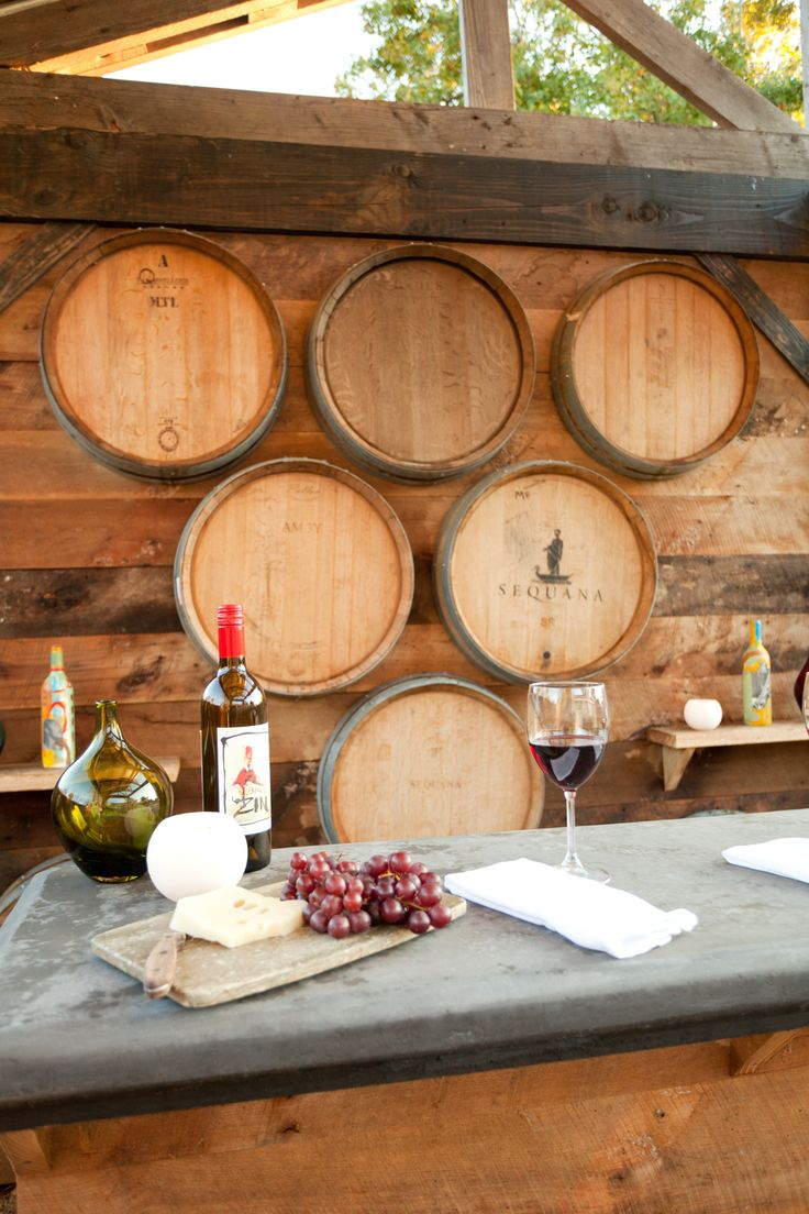 Rustic Wine Country Bar Reclaimed Barn Wood And