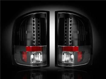 Chevy Silverado 07-13 1500 (2nd GEN Single-Wheel & 07-14 Dually) & GMC Sierra 07-14 (Dually Only) 2nd GEN Body Style LED TAIL LIGHTS - Smoked Lens