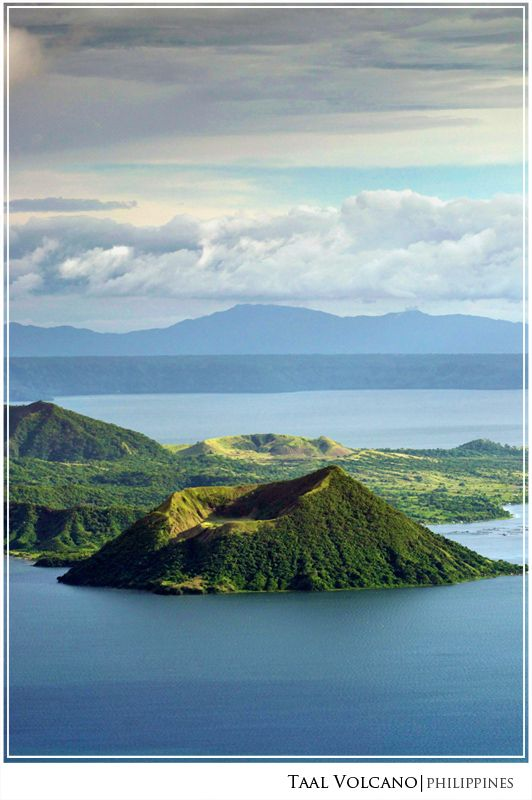 Smallest Volcano in the World, Taal Volcano found in Tagaytay, Philippines, Enjoy beautiful views and cold climate in tropical country #travelasian #philippinestravel #travel