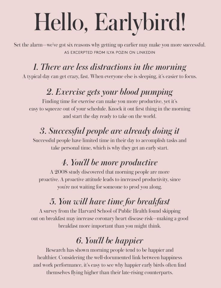 6 reasons getting up earlier may make you more successful.
