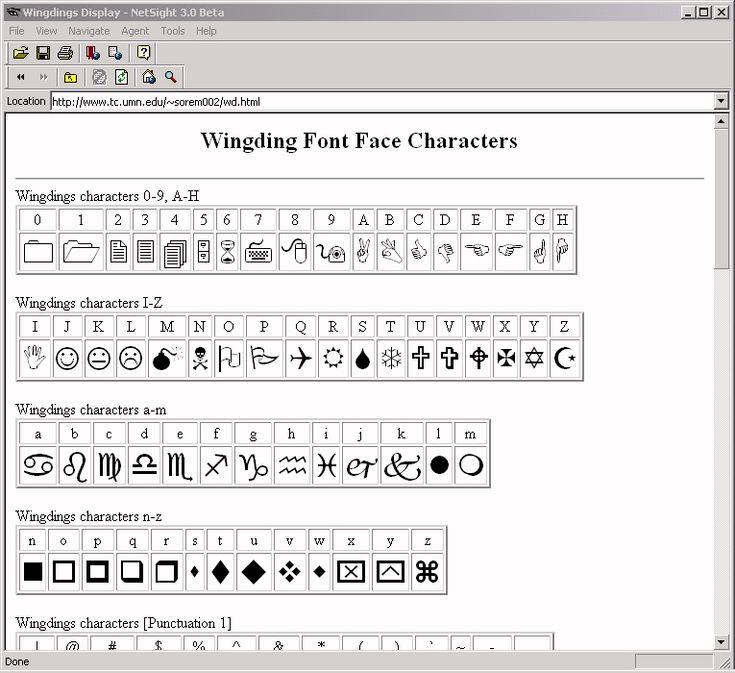 WingDings translator.