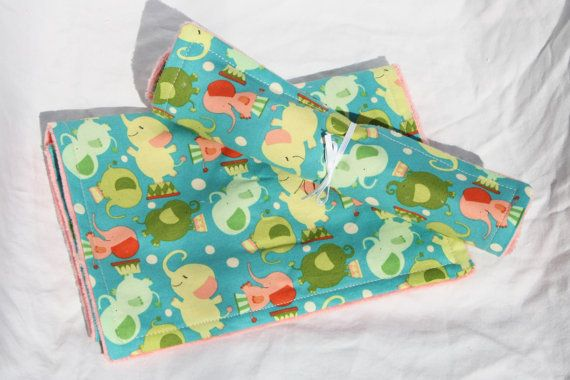 Soft Baby Burp Cloth Minky/Cotton  One Of A by ConcordLaneCritters