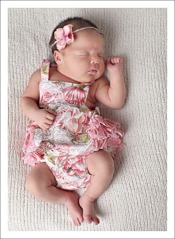 Baby Bubble Romper PDF Pattern Ruffled Sunsuit by tiedyediva, $8.00
