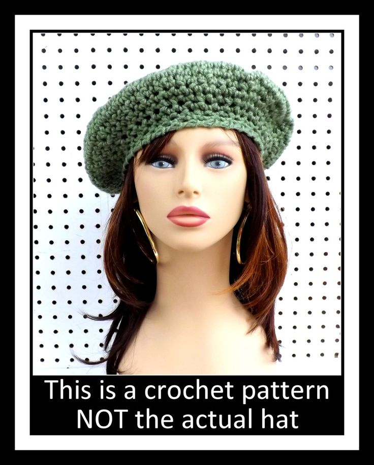 Crochet Pattern Crochet Hat Pattern FRENCH ARTIST Womens Crochet Beret Pattern for Beginners with Pictures Beret Hat 5.00 USD by strawberrycouture on Etsy