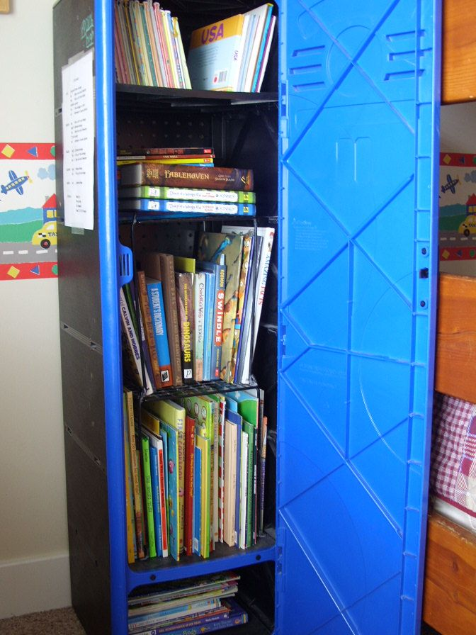 Store Books In A Locker Gotta Get This For Boys Room In