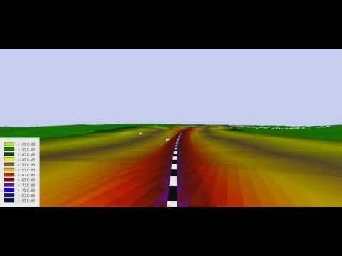 Recreación acústica de un tramo de tren de alta velocidad