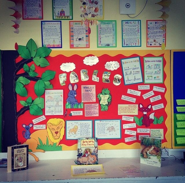 Literacy fables stories display ks2