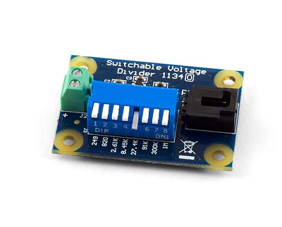 The Switchable Voltage Divider ($15 USD) lets you interface with all sorts of non-Phidgets resistance sensors, just select the resistance you want and away you go.