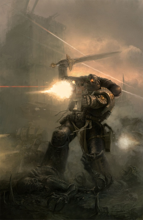 DEATHWATCH Cover for Black Library Publishing http://www.blacklibrary.com/all-products/deathwatch-2013.html